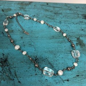 Silpada Freshwater Pearl Crystal Necklace N1602